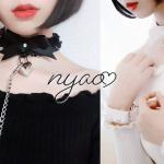 【nyao】日本一可愛い🐰🎀 首輪と手錠を販売中【甘えんぼチョーカー,ハンドカフス】